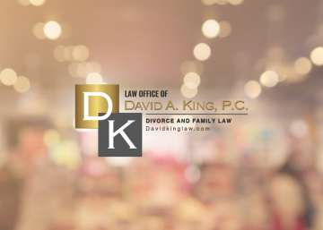 David King Law sign on office door