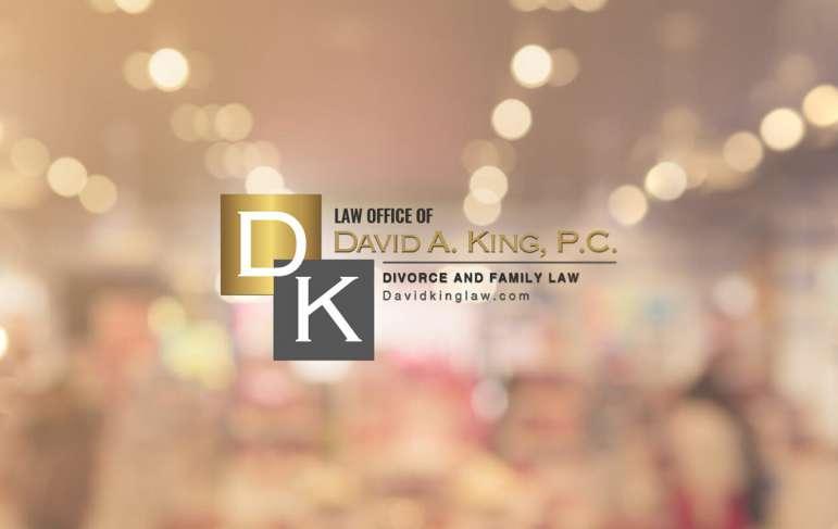 David King Law sign on office door